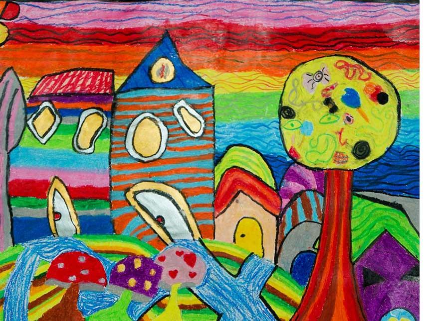 Disegnare il giardino e il terrazzo insieme ai bambini for Disegnare un giardino